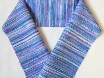 蝋しけ引き絹半衿(青赤紫)の画像