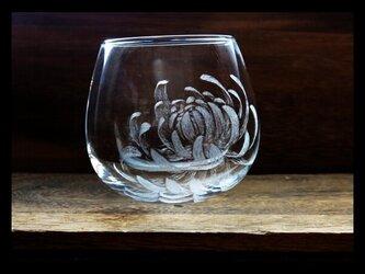 【M様ご予約品】グラス--菊の画像