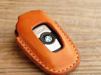 キーレス エントリー カバー BMW用 #004 - 高級イタリアンレザー ナチュラルの画像