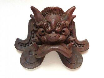 丹波立杭「吽形」ミニ鬼瓦の画像