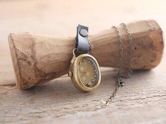 【受注生産】首からさげる時計 tate dot gold YN004の画像