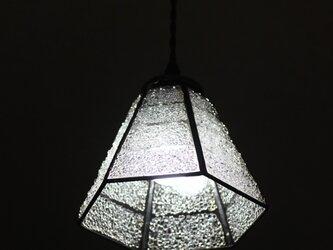 【照明】ステンドグラス、ペンダントライト,6面体クリアーの画像