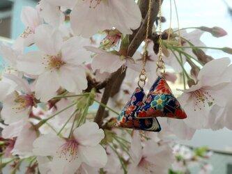 ゆらゆら揺れる♪Origami earringsの画像