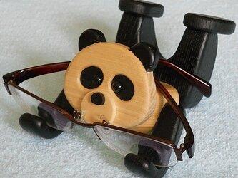 携帯電話&メガネスタンド『持っTELくん パンダ』の画像