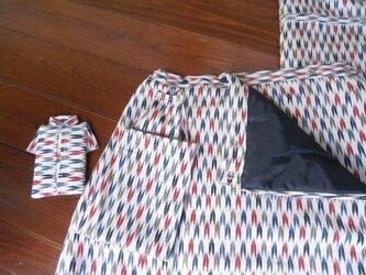 アンティーク着物リメイクスカートの画像