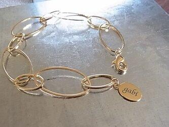 Oval chain design bracelets(single)の画像