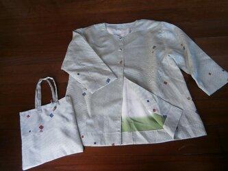 アンティーク着物リメイク ジャケットの画像