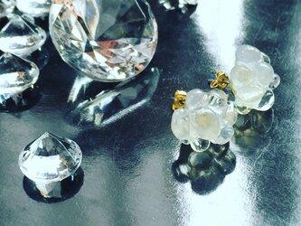【monokli】お米のグラスピアス~rice glass pierce~の画像