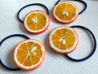 オレンジ ヘアゴムの画像
