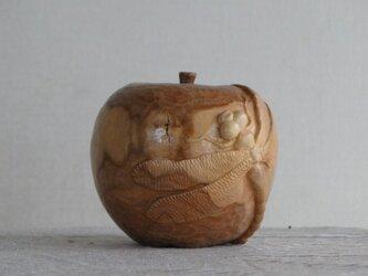 りんごとトンボの画像