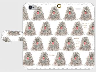 モップじゃないよ 手帳型スマホケース iPhone6/6sの画像