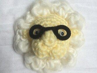 メガネをかけた動物チャーム(ライオン)の画像