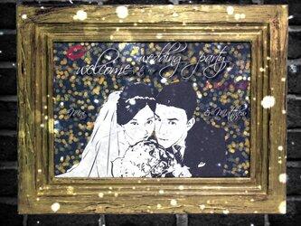 【ラグジュアリー】A3台紙 結婚式 ウェルカムボード【V】の画像