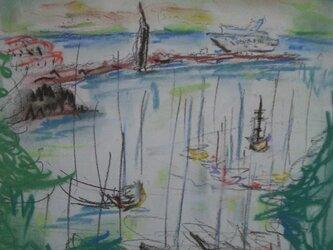Napoli ヨットのある風景の画像