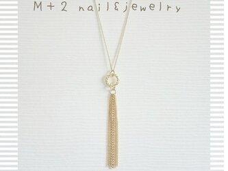 送料無料◆*カジュアルに装う…ゴールドタッセルロングネックレスの画像