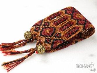 マヤ末裔が作るミサンガを脱着可能に。大 骨董鈴 15.5cmの画像