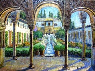 ヘネラリフェの庭園 「アルハンブラ宮殿」スペインの画像