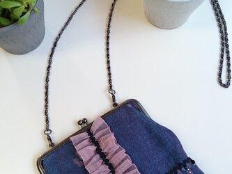 久留米絣のミニポシェットbagの画像
