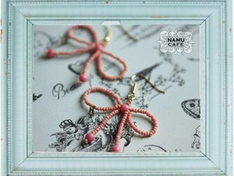 bead ribbon (pink)の画像