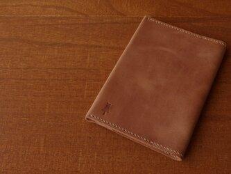 【受注生産】マットな質感のブックカバー(文庫サイズ)ブラウンの画像