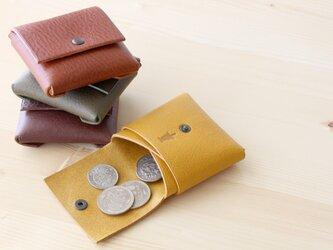 【受注生産】1枚革のコインケース ブラウンの画像