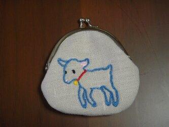 子ヤギとお手紙のがま口(青色)の画像