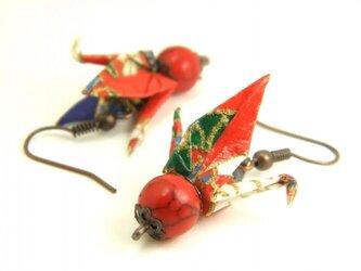 オリガミピアス・鶴(Tsuru Y18BOT2CBr)の画像