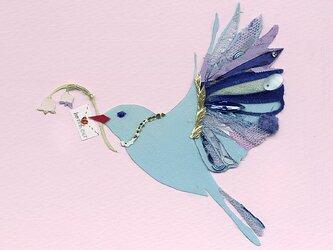 青い鳥と鈴蘭の画像