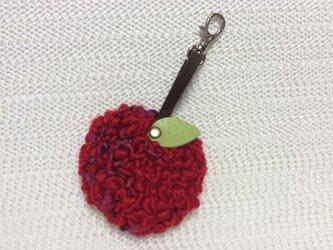 りんごのキーホルダーの画像
