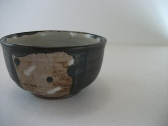 しずく模様黒茶碗(小)の画像
