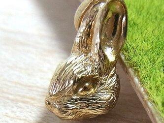 ウサギのペンダントトップ(SV925 イエローゴールドメッキ)の画像