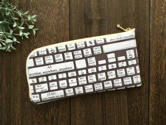 軽くて薄い♪L字長財布 キーボードの画像