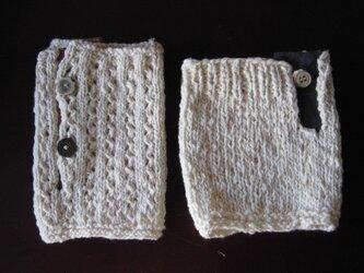 手紡ぎ綿の足首ウォーマーの画像