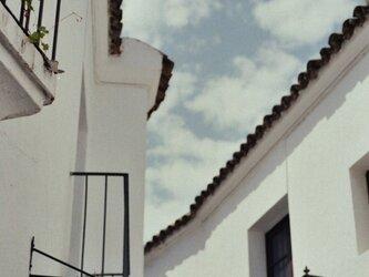 【額入写真】白壁の街の画像
