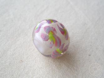 とんぼ玉 小花柄の画像
