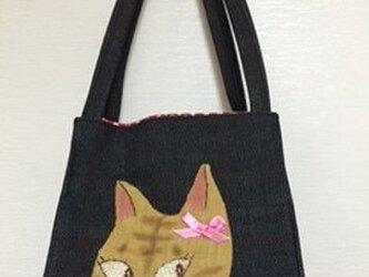 猫おすましサイコロトートの画像