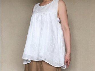 discount 9500⇒7500円 花柄リップル コットンローン キャミブラウスの画像