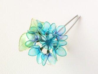 紫陽花かんざし:雨の雫の画像