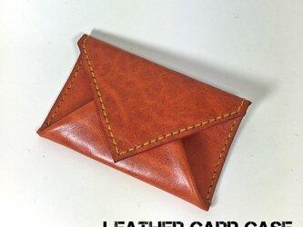 封筒型のカードケース/パスケース オレンジの画像