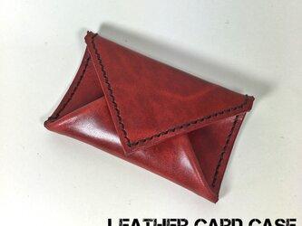 封筒型のカードケース/パスケース レッドの画像
