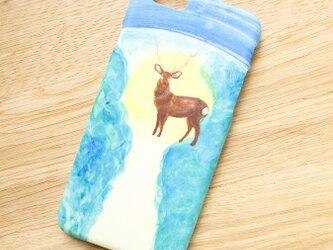 SALE!!!【iPhone/Android対応】「星降る夜に、鹿と出逢った」スマートフォンケースの画像