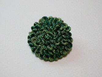 うろこブローチ 緑混の画像