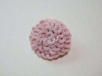 うろこブローチ  淡いピンクの画像
