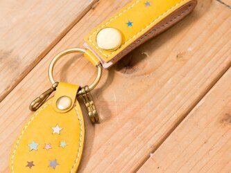LEATHER KEY HOLDER(Inray Button ver)の画像
