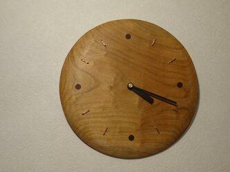 木の時計(大)の画像