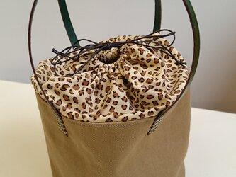 ピッコロ型ミニトートバッグ ~ レオパード柄~の画像