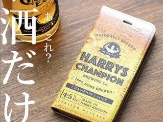 iphone12 ケース 手帳 ビールの画像