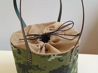ピッコロ型ミニトートバッグ  ~ デジタルカモフラ柄 ~の画像