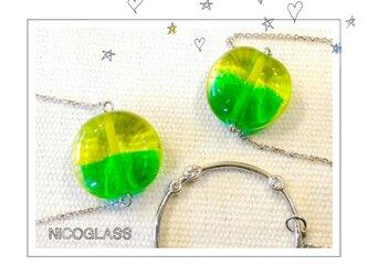 ロングネックレス・グラスホルダー付き♪緑の画像