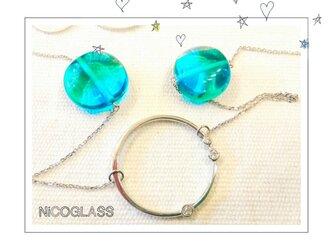 ロングネックレス・グラスホルダー付き♪青の画像